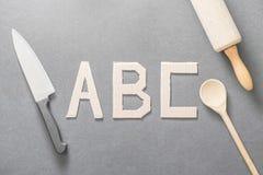 Cocinar ABC Foto de archivo libre de regalías