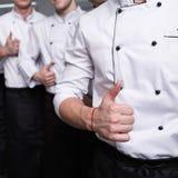 Cocinar a contendientes de la show televisivo del talento fotos de archivo libres de regalías