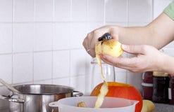 Cocinar el almuerzo para la familia. Fotos de archivo libres de regalías