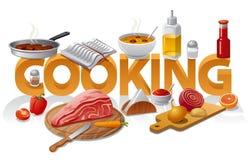 Cocinar el ejemplo de la comida Imagen de archivo libre de regalías