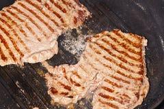 Cocinar el filete Fotografía de archivo libre de regalías
