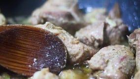 Cocinar el guisado de la carne metrajes