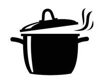 Cocinar el icono de la cacerola Fotos de archivo