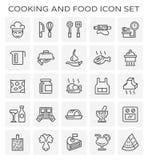 Cocinar el icono de la comida stock de ilustración