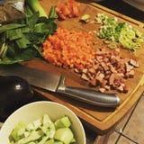 Cocinar el momento Fotografía de archivo libre de regalías
