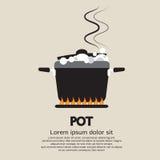 Cocinar el pote Foto de archivo libre de regalías