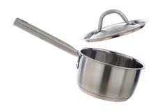Cocinar el pote con la tapa Fotografía de archivo