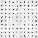 Cocinar el sistema del icono Foto de archivo libre de regalías