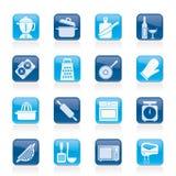 Cocinar iconos de las herramientas Foto de archivo libre de regalías