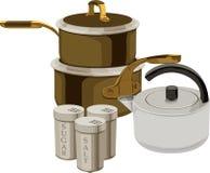Cocinar la batería Imagenes de archivo