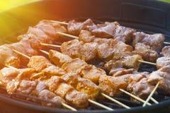 Cocinar la carne Foto de archivo libre de regalías