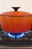 Cocinar la cena Foto de archivo