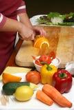 Cocinar la ensalada Imagen de archivo libre de regalías