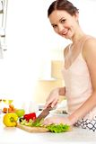 Cocinar a la esposa Fotografía de archivo