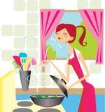Cocinar a la mujer Imágenes de archivo libres de regalías