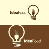 Cocinar la plantilla del logotipo del icono del símbolo de las ideas Imagen de archivo