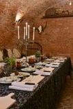 Cocinar la tabla del lujo de la lección Fotos de archivo