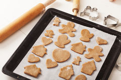 Cocinar las galletas Fotos de archivo