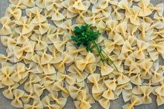 Cocinar las pastas de los macarrones Fondo del alimento Foto de archivo libre de regalías