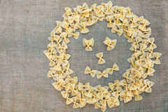 Cocinar las pastas de los macarrones Fondo del alimento Imágenes de archivo libres de regalías