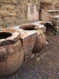 Cocinar los crisoles, Herculaneum imagenes de archivo