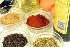 Cocinar los ingredientes Imagen de archivo libre de regalías