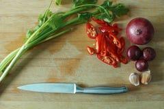 Cocinar los ingredientes Fotografía de archivo