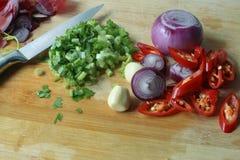Cocinar los ingredientes Fotografía de archivo libre de regalías