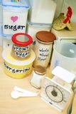 Cocinar los ingredientes básicos Foto de archivo libre de regalías