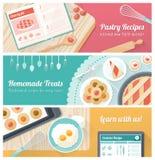 Cocinar los pasteles sabrosos stock de ilustración
