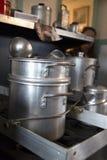 Cocinar los potes fotos de archivo libres de regalías