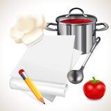 Cocinar recetas Imagen de archivo libre de regalías