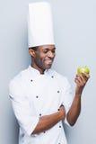 Cocinar solamente la comida sana Foto de archivo libre de regalías