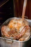 Cocinar una acción de gracias Turquía Foto de archivo libre de regalías