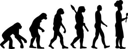 Cocinar vector de la evolución stock de ilustración