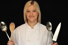Cocinero adolescente Fotos de archivo