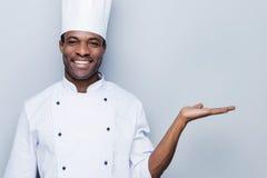 Cocinero alegre Fotos de archivo libres de regalías