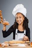 Cocinero alegre de la muchacha Imagen de archivo