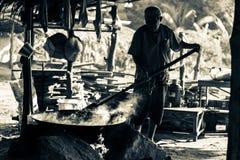 Cocinero antiguo en Tailandia, la Tailandia retra Fotos de archivo