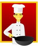 Cocinero asiático stock de ilustración