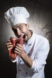 Cocinero asustadizo Fotos de archivo