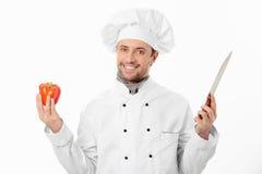 Cocinero atractivo Fotografía de archivo libre de regalías