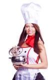 Cocinero atractivo Fotografía de archivo