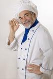 Cocinero atractivo feliz imagen de archivo libre de regalías