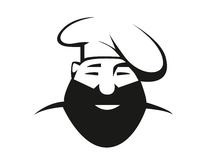 Cocinero barbudo en toca Imagen de archivo libre de regalías