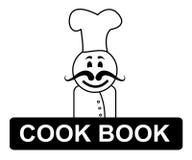 Cocinero Book Chef Represents que cocina en cocina y cocineros Fotos de archivo