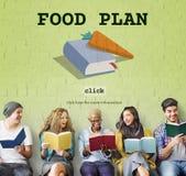 Cocinero Book Concept de la comida del plan de la comida Fotos de archivo libres de regalías