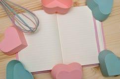Cocinero Book y trazadores de líneas del mollete Foto de archivo libre de regalías