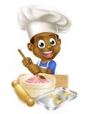 Cocinero Boy de la historieta Imágenes de archivo libres de regalías
