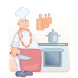 Cocinero con el cuchillo Fotos de archivo libres de regalías